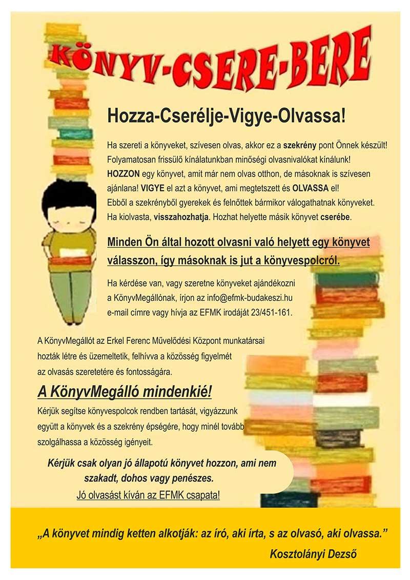 Hozza-Cserélje-Vigye-Olvassa!