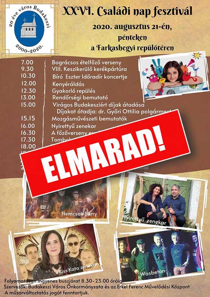 XXVI Családi nap fesztivál - ELMARAD
