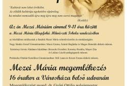 Mezei Mária emléknap